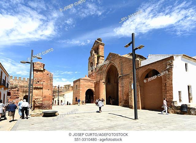Ruins of the Church of Saint Martin, (13th century) Niebla, Huelva province, Andalusia, Spain