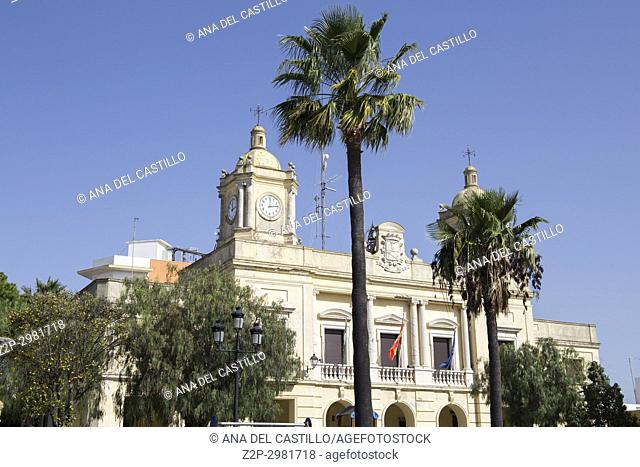 City hall Barbate in Cadiz province , Andalusia, Spain