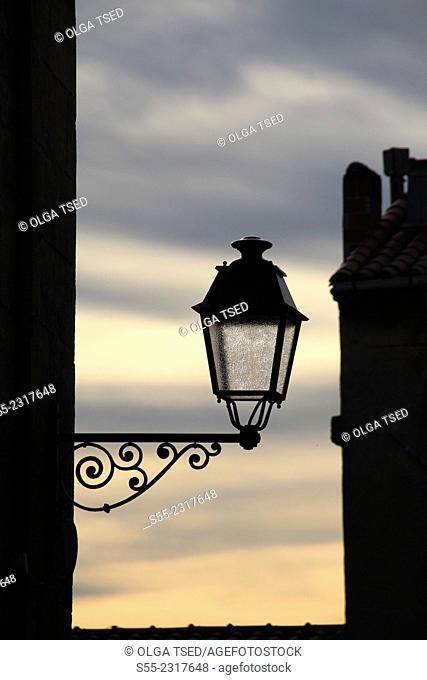 Street light. Emporda, Catalonia, Spain