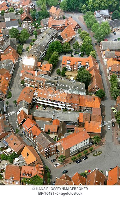 Aerial view, Drensteinfurt, Muensterland, North Rhine-Westphalia, Germany, Europe