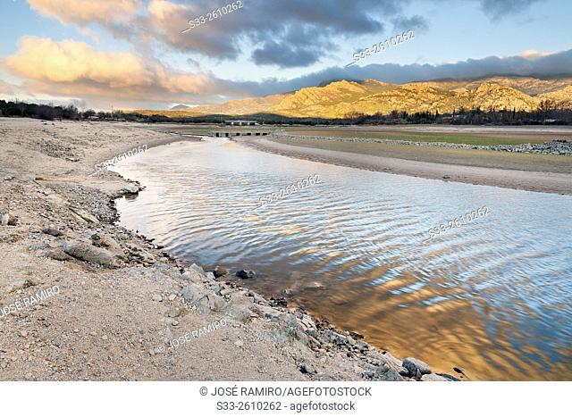 Samburiel river in Manzanares el Real. Madrid. Spain. Europe