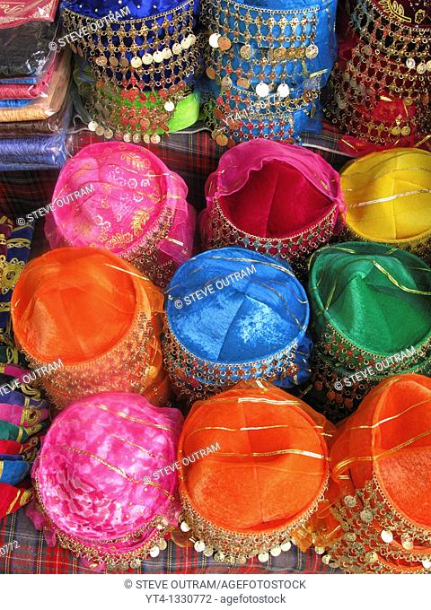 Display of Fez Hats, Sultanahmet, Istanbul, Turkey