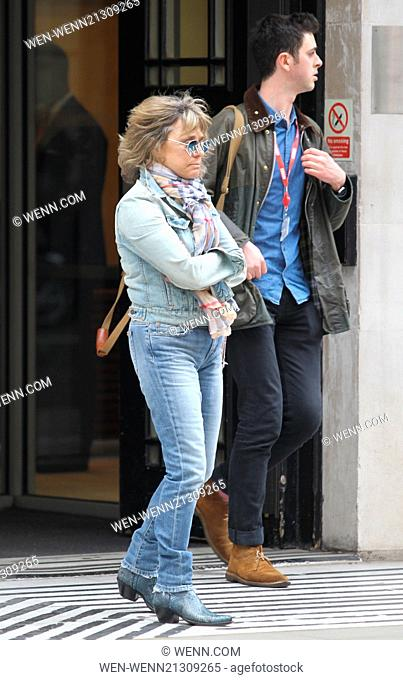 Suzi Quatro seen at Radio 2. She had been out of circulation for nearly 30 years until recent times. Featuring: Suzi Quatro Where: London