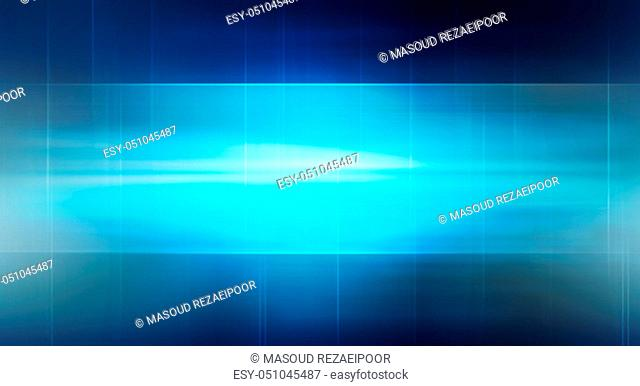 Graphical abstract technology background, lights on blue background