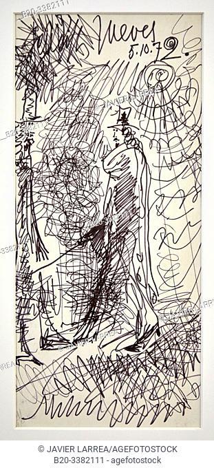 """""""Deux hommes sous le soleil"""", 1972, Pablo Picasso, Picasso Museum, Paris, France, Europe"""