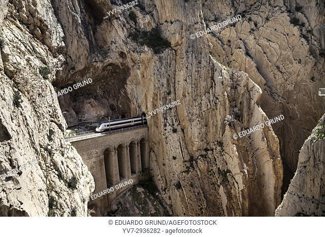 Caminito del Rey, Gaitanes Gorge, Ardales - Alora, Malaga, Andalusia, Spain