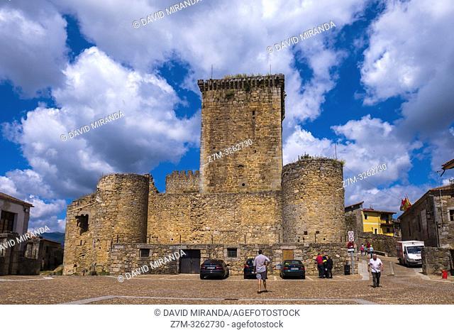 Castillo de Miranda del Castañar. Sierra de Francia. Salamanca. Castilla León. España