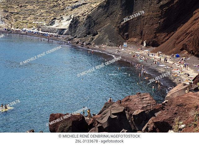 Red Beach in Santorini Greece