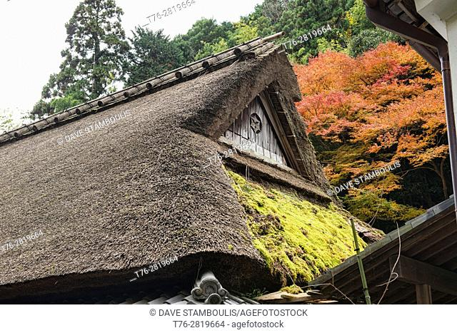 Traditional thatched roof home, Arashiyama, Kyoto, Japan