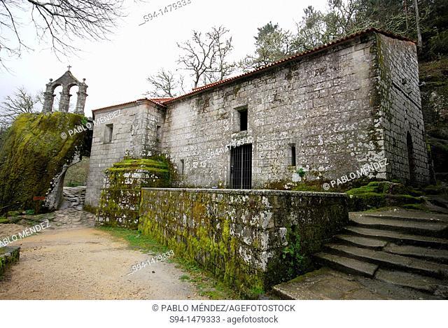 Church of San Pedro de Rocas, near of Esgos, Orense, Spain
