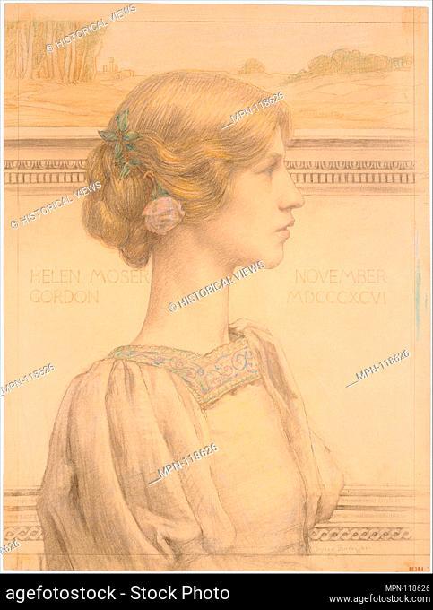 Mrs. Helen Moser Gordon, later Mrs. Ivanowski. Artist: Bryson Burroughs (American, Hyde Park, Massachusetts 1869-1934 New York); Date: 1896; Medium: Colored...