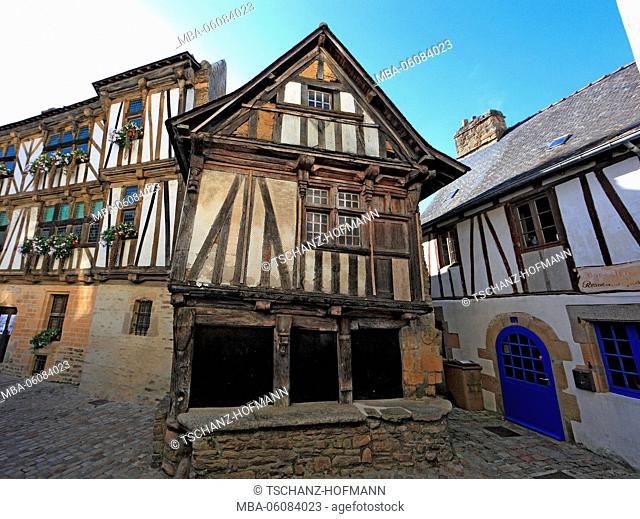 France, region of Brittany, Quimberle, the historical house, Maison of the Arches, in the Old Town