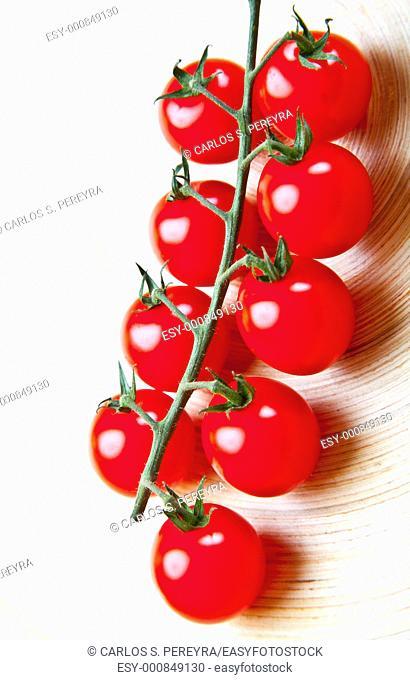 a detail of tomato cherry