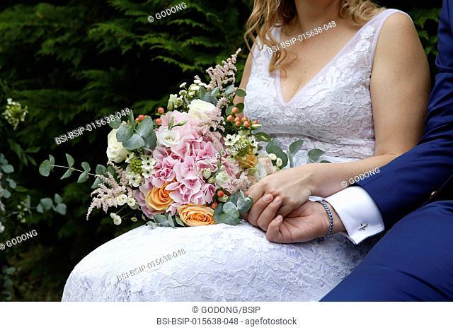 Wedding. Newlyweds. France