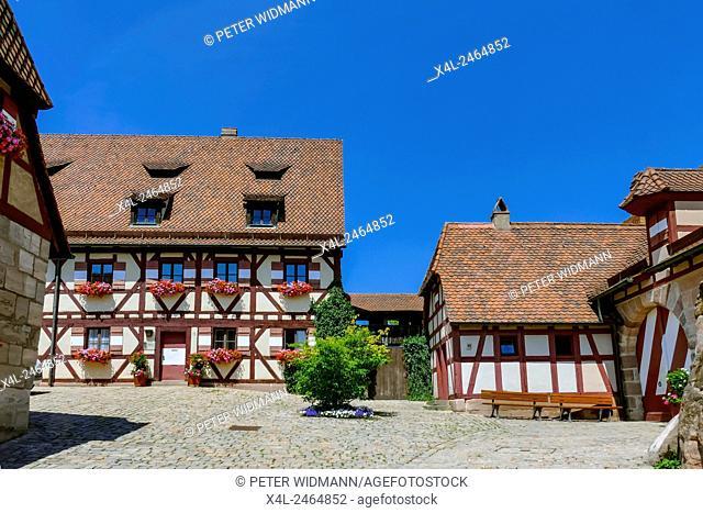 The Kaiserburg Castle, Inner Yard, Museum, Nuremberg, Baveria, Franconia, Germany