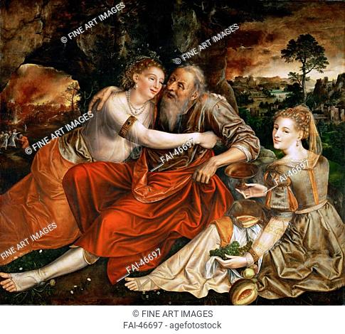 Lot and his Daughters by Massys (Matsys), Jan (1510-1575)/Oil on wood/Early Netherlandish Art/1563/The Netherlands/Art History Museum
