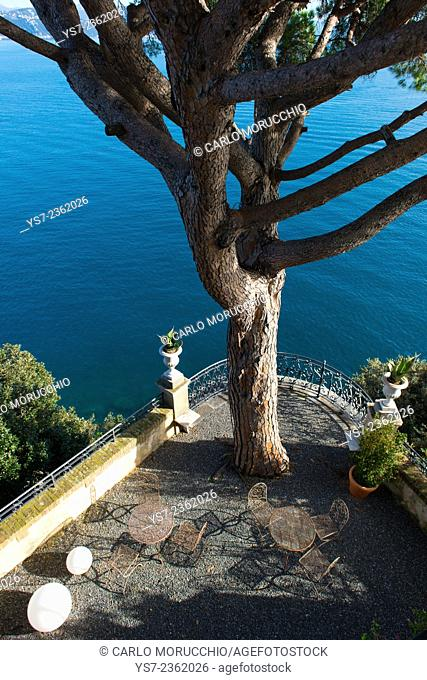 The terraces at Cervara Abbey, Santa Margherita Ligure, Genova, Liguria, Italia