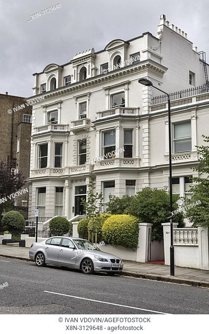 Vintage house, Notting Hill, London, England, UK