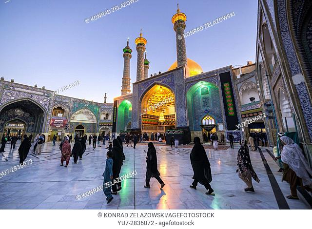 One of the courtyards of Fatima Masumeh Shrine, Shiah Islam holy place in Qom city, capital of Qom Province of Iran