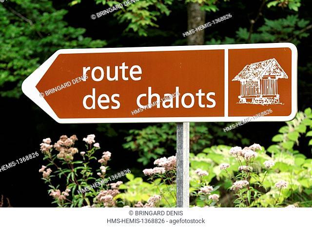France, Haute Saone, Saint Bresson, panel Route des Chalots