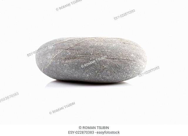 Zen stone - isolated over white