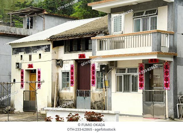 Rural villages in Sha Tau Kok, the border barrier opened after 61 years in February 2012, Hong Kong