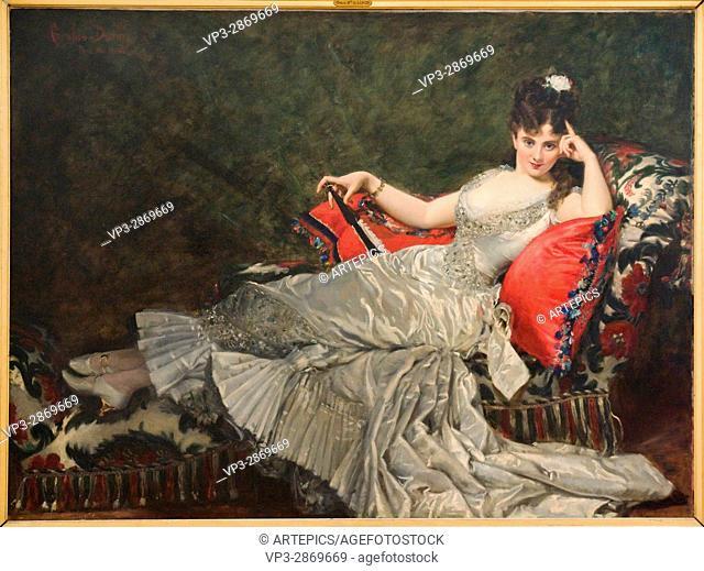 Charles Durand aka Carolus-Duran. Portrait de Mademoiselle de Lancey. 1876 - Oil on Canvas. Petit Palais Museum. Paris - France