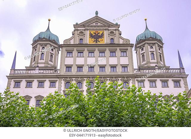 The historic Town Hall of Augsburg, Bavaria, Germany. Das historische Rathaus von Augsburg, Bayern, Deutschland