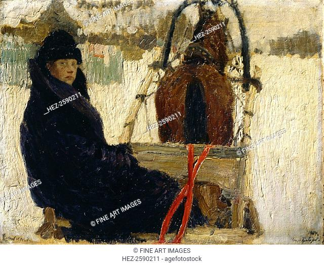 A coachman, 1904. Found in the collection of the State Tretyakov Gallery, Moscow. ARTIST'S COPYRIGHT MUST ALSO BE CLEARED