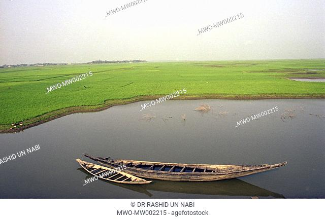 A typical countryside, Brammanbaria 2004, Bangladesh