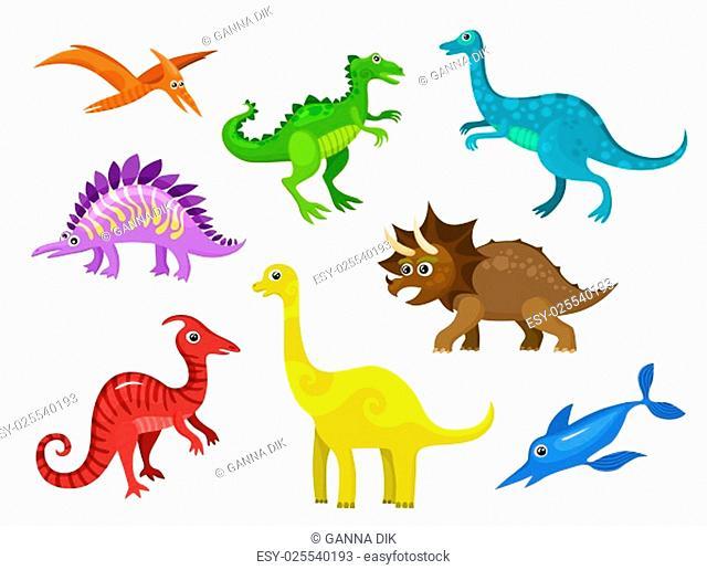 illustration of a set dinos