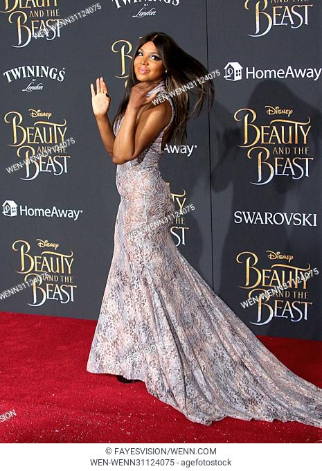 Toni Braxton attending the World Premiere of Disney's 'Beauty and the Beast' at the El Capitan Theater in Los Angeles, California