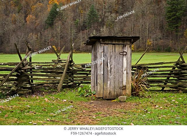 Outhouse, Oconaluftee Pioneer Homestead, Great Smoky Mtns National Park, NC