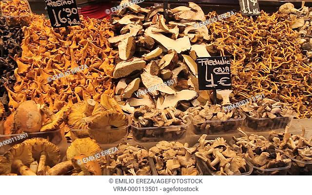 La Boqueria Market. Barcelona, Catalonia, Spain