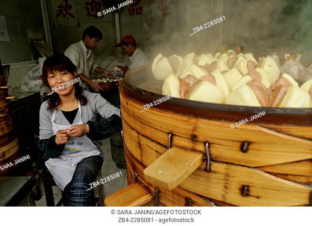 Traditional Dim Sum, Shanghai, China, Asia