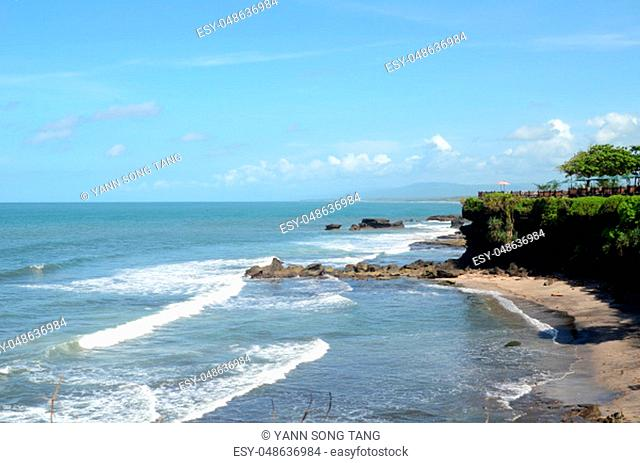 Cliff at Tanah Lot Temple in Bali Indonesia
