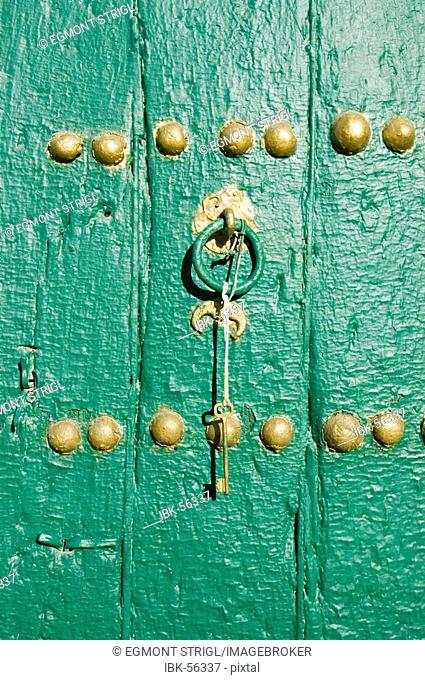 Detail of a door of a mosque, Ghadames, Ghadamis, Unesco world heritage site, Libya