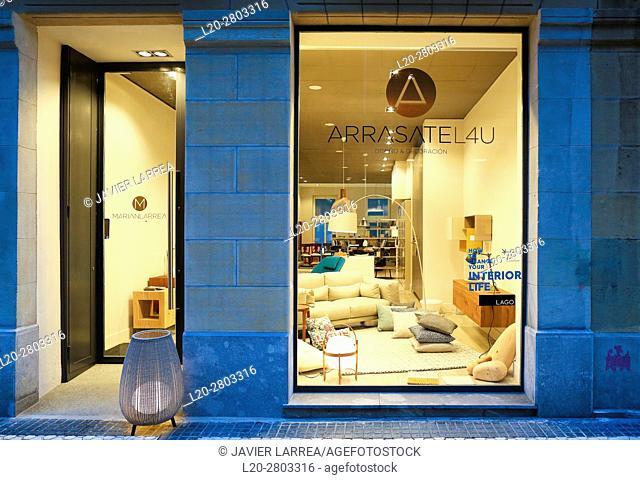 Furniture store, San Sebastian (Donostia), Basque Country, spain