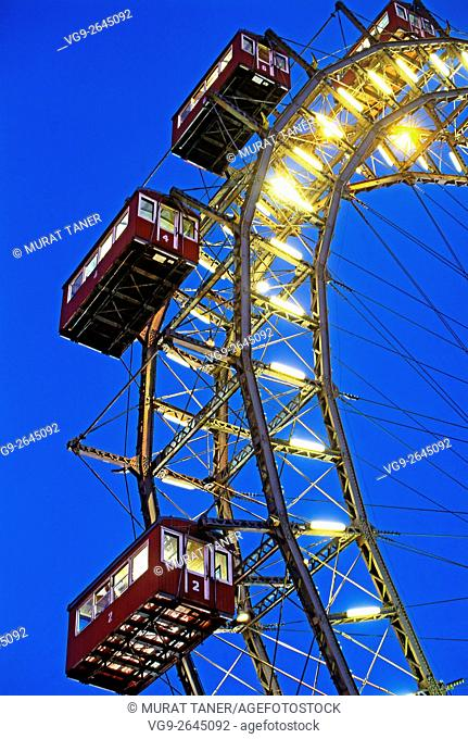 Ferris Wheel at Prater. Vienna, Austria