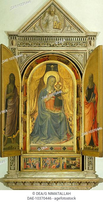 Tabernacle of the Linen Drapers, 1432-1433, by Giovanni da Fiesole known as Fra Angelico (1400-ca 1455), tempera on wood