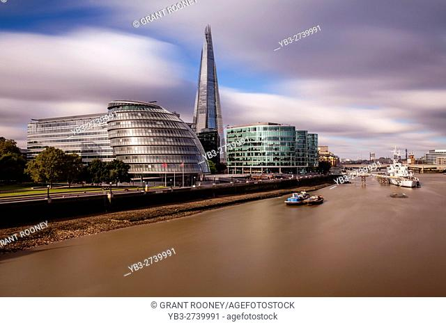 London Skyline and The River Thames, London, UK