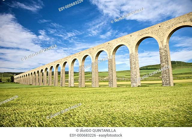 ancient aqueduct in pamplona