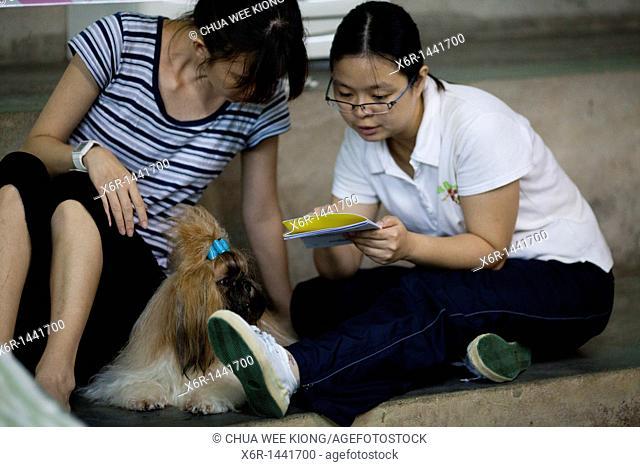 Reading at dog show Kuching