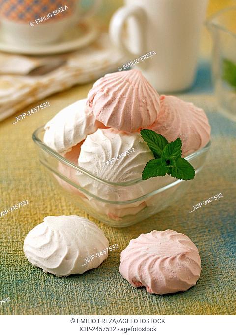 Fragrant roses meringues