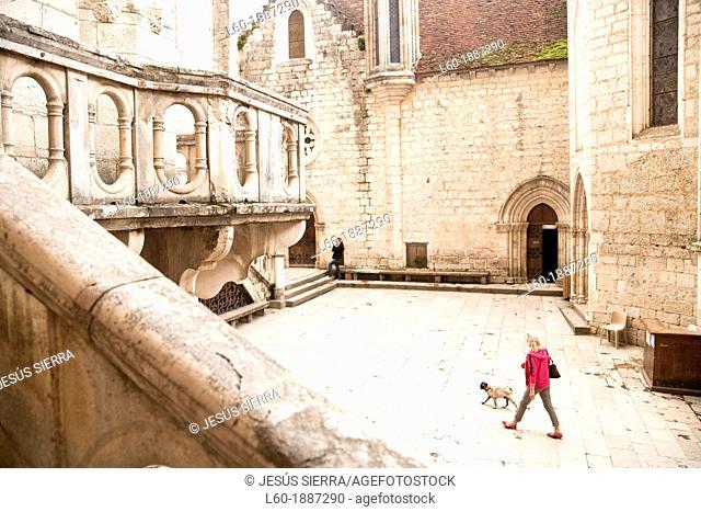 Tourist in Rocamadour, Perigordo, Dordogne, France
