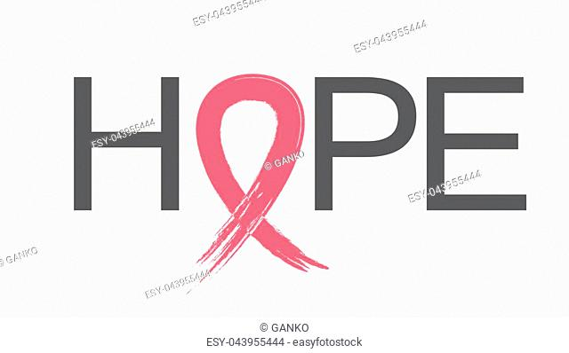Breast Cancer Awareness Month Pink Ribbon Background Vector Illustration EPS10