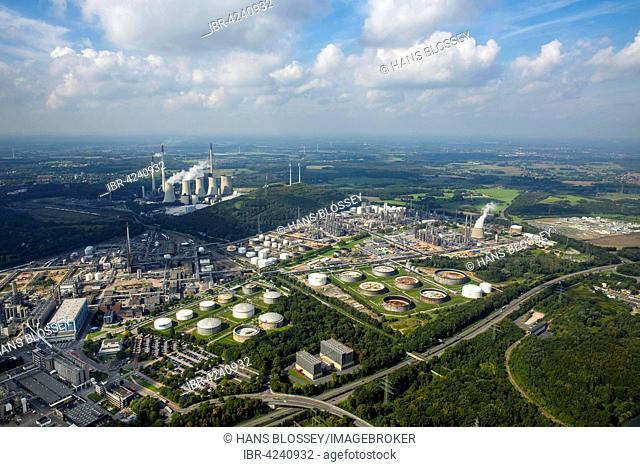 Ruhr Oel GmbH, oil refinery, Gelsenkirchen, Ruhr district, North Rhine-Westphalia, Germany