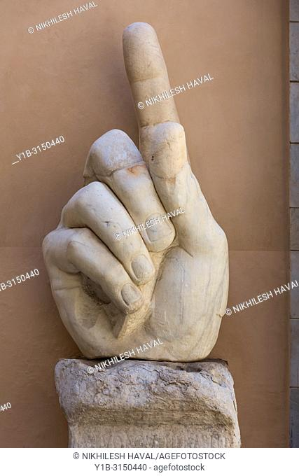 Right hand from Colossus of Constantine, Capitoline Museums, Rome, Italy