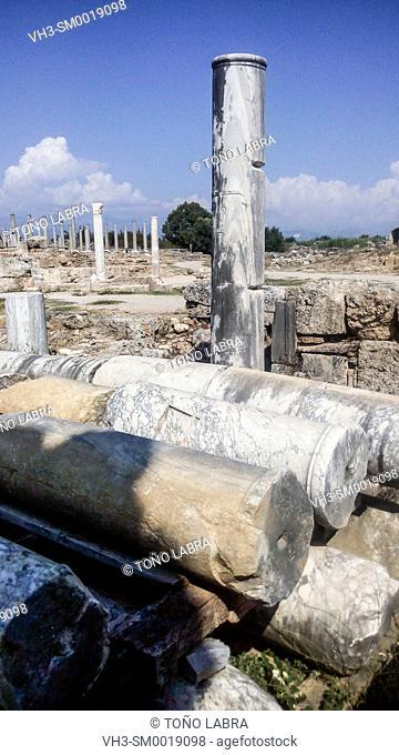 Perge Agora. Old capital of Pamphylia Secunda. Ancient Greece. Asia Minor. Turkey
