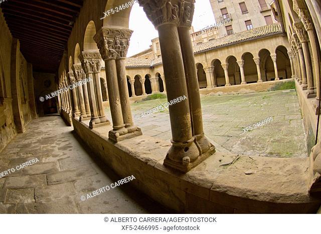 Romanesque Cloister, Monastery of San Pedro el Viejo, Huesca, Aragón, Spain, Europe